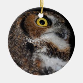 Eli - Great Horned Owl IV Ceramic Ornament