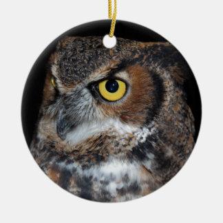 Eli - Great Horned Owl VI Ceramic Ornament