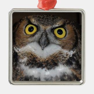 Eli - Great Horned Owl VII Metal Ornament