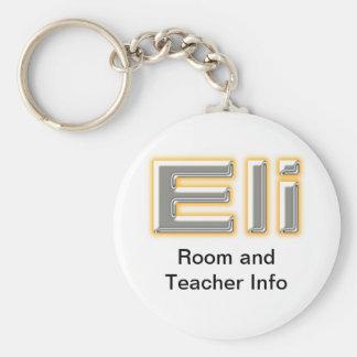 Eli Name Tag Key Chain