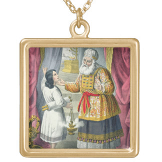 Eli Questioning Samuel Regarding the Vision, from Gold Plated Necklace