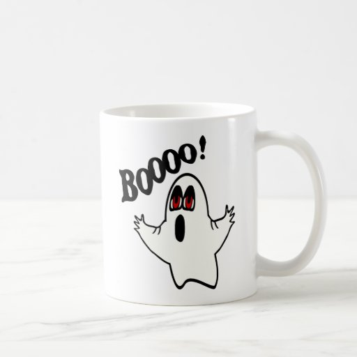 "Eli, The Expressive Ghost With ""Boooo!"" Coffee Mug"