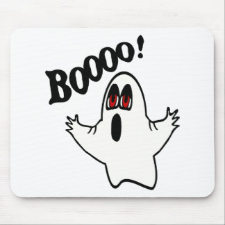 "Eli, The Expressive Ghost With ""Boooo!"" Mouse Pad"