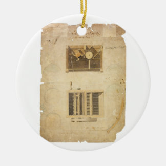 Eli Whitney's Patent for the Cotton Gin in 1794 Ceramic Ornament