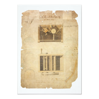 Eli Whitney's Patent for the Cotton Gin in 1794 5x7 Paper Invitation Card
