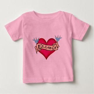 Eliana - Custom Heart Tattoo Baby T-Shirt