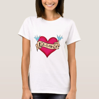 Eliana - Custom Heart Tattoo T-Shirt