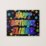 "[ Thumbnail: ""Eliana"" First Name, Fun ""Happy Birthday"" Jigsaw Puzzle ]"
