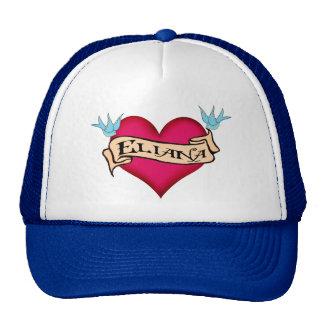 Eliana - tatuaje de encargo del corazón gorras de camionero