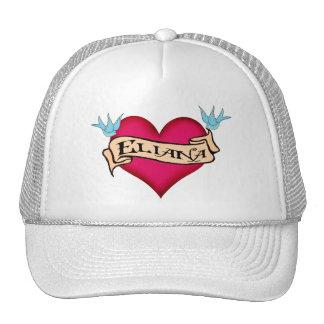 Eliana - tatuaje de encargo del corazón gorros bordados