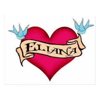 Eliana - tatuaje de encargo del corazón postal
