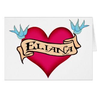 Eliana - tatuaje de encargo del corazón felicitacion