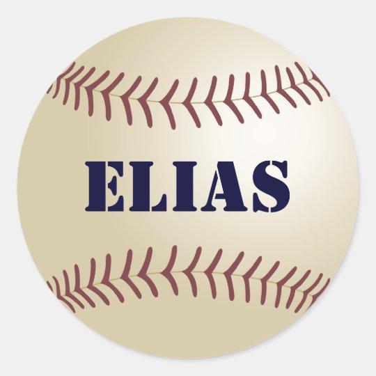 Elias Baseball Sticker / Seal