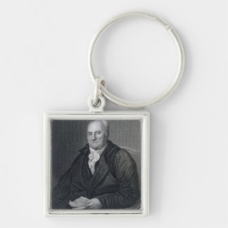 Elias Boudinot, engraved by John Wesley Paradise ( Silver-Colored Square Keychain