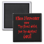 Elias Firewater Fridge Magnet