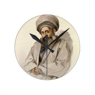 Elias - Jacobite Priest from Mesopotamia Round Clocks