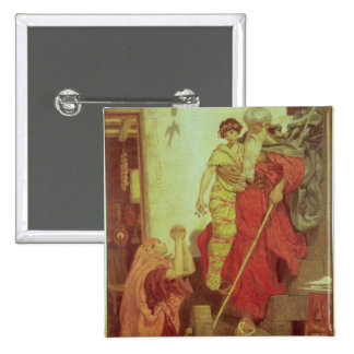 Elías que restaura al hijo de la viuda, 1868 pin cuadrada 5 cm