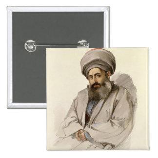 Elias - sacerdote de Jacobite de Mesopotamia Pin Cuadrado