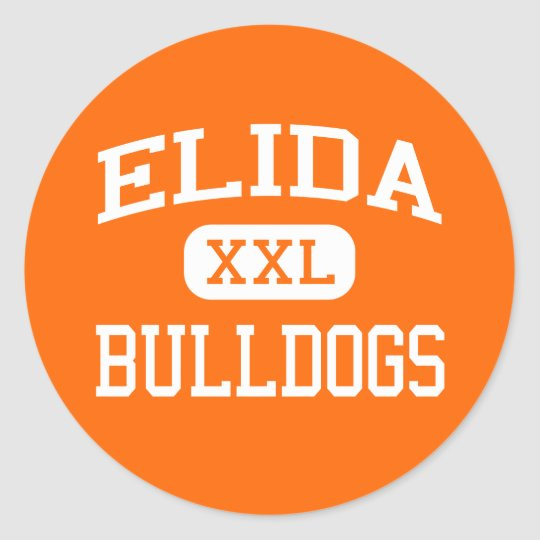 Elida - Bulldogs - Elida High School - Elida Ohio Classic Round Sticker