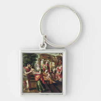 Eliezer and Rebecca at the Well, 1562 Keychain