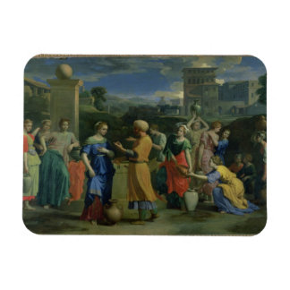 Eliezer and Rebecca at the Well 1648 oil on canv Rectangular Magnet