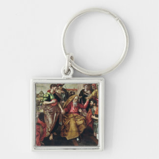 Eliezer Asking for Rebecca to Marry Isaac, 1562 Keychain