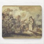 Eliezer y Rebecca en el pozo Alfombrilla De Raton