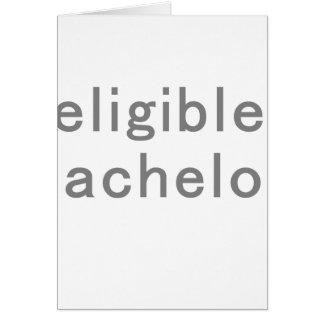 Eligible Bachelor Card