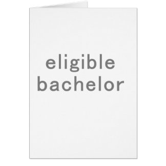 Eligible Bachelor Tshirts and Gifts Card