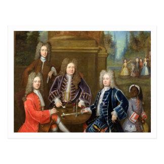 Elihu Yale (1648-1721) el segundo duque de Devonsh Postales
