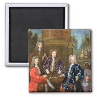 Elihu Yale (1648-1721) the second Duke of Devonshi 2 Inch Square Magnet