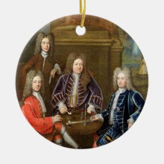 Elihu Yale (1648-1721) the second Duke of Devonshi Ceramic Ornament