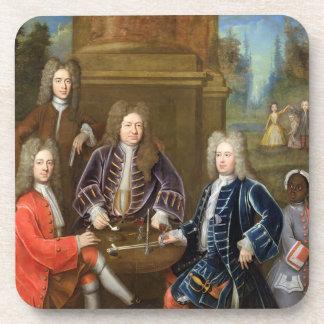 Elihu Yale (1648-1721) the second Duke of Devonshi Drink Coaster