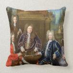 Elihu Yale (1648-1721) the second Duke of Devonshi Pillow