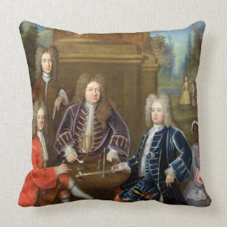 Elihu Yale (1648-1721) the second Duke of Devonshi Pillows