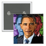 Elija a Barack Obama para el presidente Pin Cuadrada 5 Cm