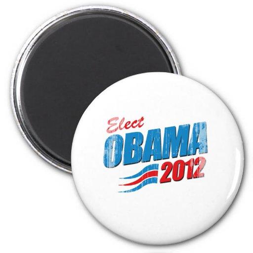 Elija a Barack Obama Vintage.png Imán Para Frigorifico