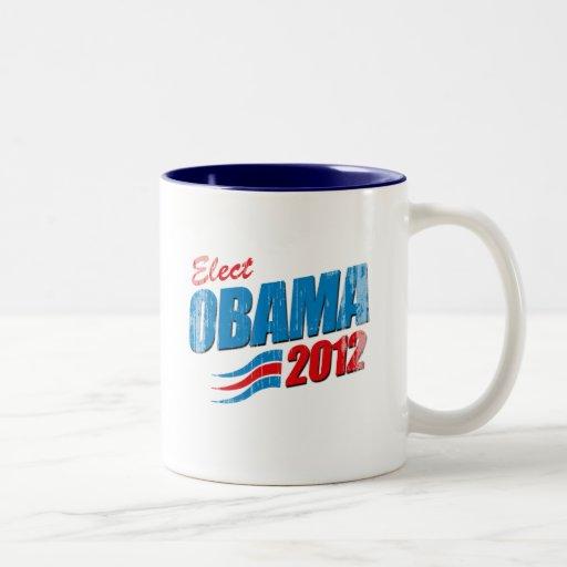 Elija a Barack Obama Vintage.png Taza Dos Tonos