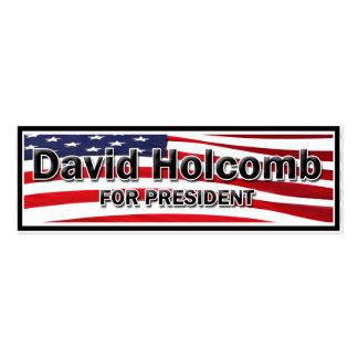 Elija a David Holcomb Tarjetas De Visita Mini