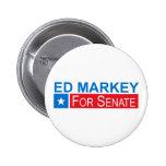 Elija a Ed Markey Pin Redondo De 2 Pulgadas