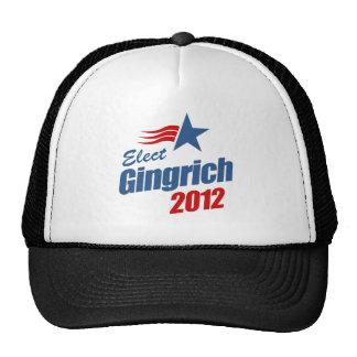 Elija a Gingrich 2012 Gorras De Camionero