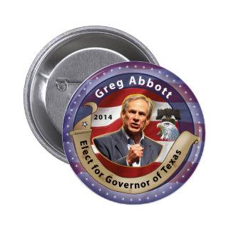 Elija a Greg Abbott para el gobernador de Tejas - Pin