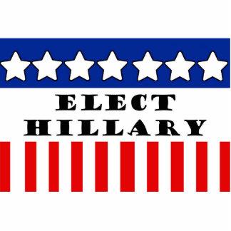 Elija a Hillary Clinton Fotoescultura Vertical