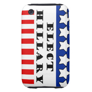 Elija a Hillary Clinton Tough iPhone 3 Protectores