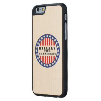 Elija a Hillary Clinton Funda De iPhone 6 Carved® Slim De Arce