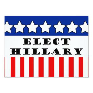 Elija a Hillary Clinton Invitación 13,9 X 19,0 Cm