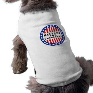 Elija a Hillary Clinton Camiseta Sin Mangas Para Perro