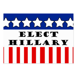 Elija a Hillary Clinton Tarjetas De Visita Grandes