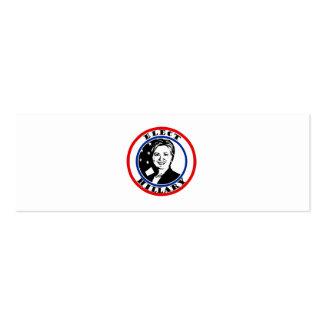 Elija a Hillary Clinton Tarjetas De Visita Mini