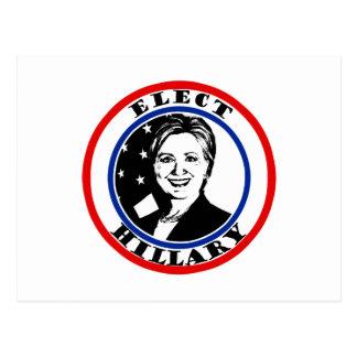 Elija a Hillary Clinton Postal